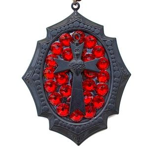 SCARLET FEVER SACREDHEART CROSS MINI NECKLACE NEW
